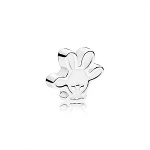 Disney Mickey glove silver petite element with white enamel
