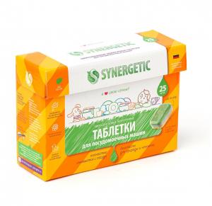 Synergetic таблетки для посудомоечных машин, 25шт.