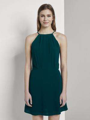 lace neckholder mini, sapphire green, M
