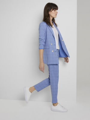 blazer modern gle, blue check design, 34