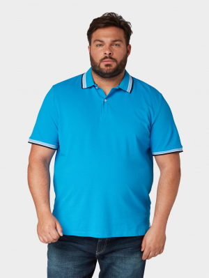 polo with, brilliant middle blue, XXXXL