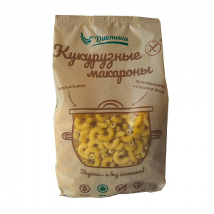 Макароны Диетика Рожок большой 300гр из кукуруз.муки
