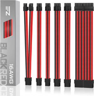 EZDIY-FAB PSU CABLE EXTENSION KIT (Black-Red)