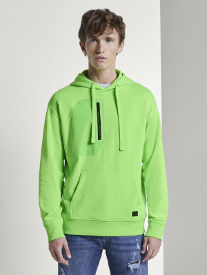 oversized hoodie, neon lime green, L