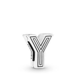 Pandora Reflexions letter Y silver clip charm