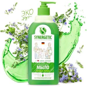 """Synergetic жидкое мыло """"Луговые травы"""" с эффектом увлажнения, гипоаллергенное 500 мл"""