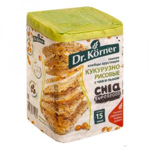 Хлебцы DrKorner кукурузно-рисовые с ЧИА и Льном 100гр