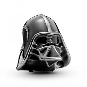 Star Wars Darth Vader dark oxidised sterling silver charm with black enamel