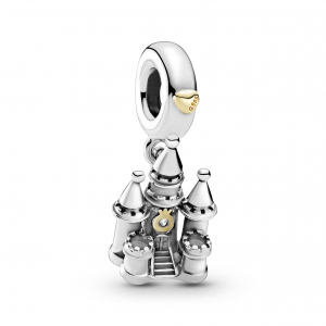Castle sterling silver and 14k gold dangle