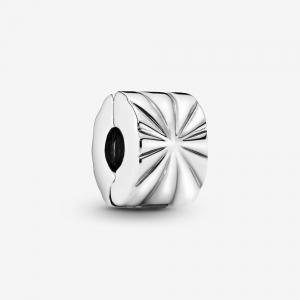 Abstract silver clip