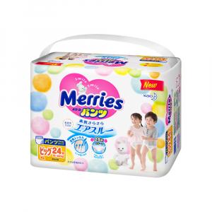 Трусики-подгузники Merries размер XL 12-22 кг 24 шт