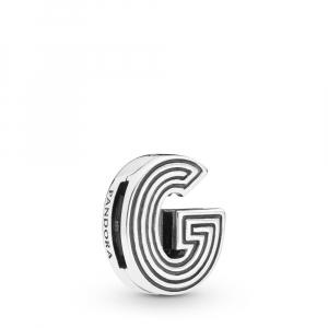 Pandora Reflexions letter G silver clip charm