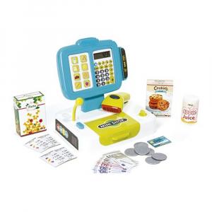 Набор Smoby Электронная касса с ЖК-экраном, звуковым и световым сканированием и ящиком для денег