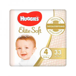 Подгузники Huggies Elite Soft 4 8-14 кг 33 шт