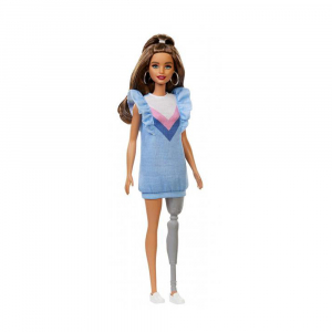 Кукла Barbie Fashionistas Doll, brunette hair with prosthetic