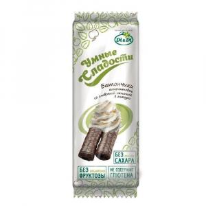Батончики безглютеновые «Умные сладости» со сливочной начинкой, витаминизированные 20г