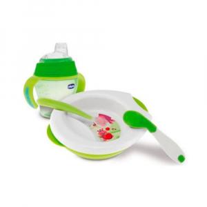 Набор детской пластмасовой посуды Chicco 6 мес+