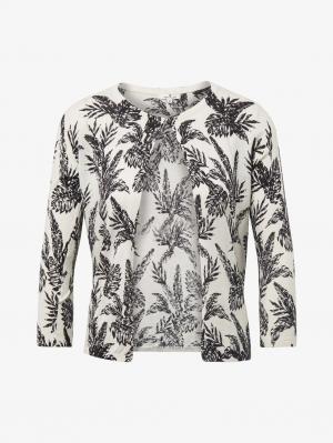 short, white smaller palm leaf design, S