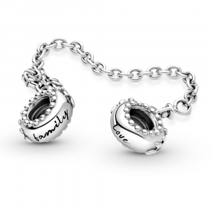 Family tree sterling silver safety chain