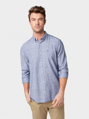 ray linen cotton, Dark Blue Chambray, M