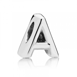 Letter A silver charm