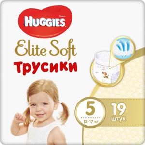 Huggies Подгузники-трусики Elite Soft 12-17 кг (размер 5) 19 шт