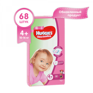 HUGGIES ULTRA COMFORT GIGA (4+) 68ШТ. GIRL