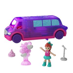 Набор игровой POLLY POCKET Полливиль машинка Лимузин для вечеринок GGC41