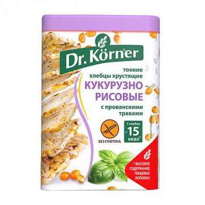 Хлебцы Кукурузно-рисовые с прованскими травами Dr. Korner 100г