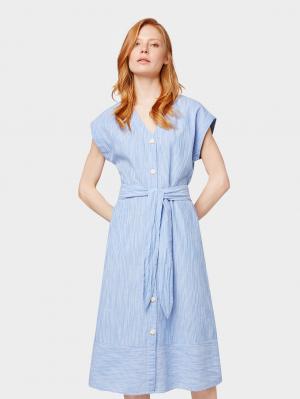 shirtdress striped, sea blue stripe, 38