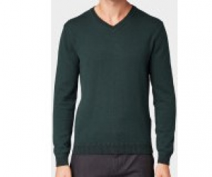 merino blend swea, wood lake green, XXXL