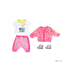 Комплект одежды Роскошный Модный Розовый для куклы Бэби Борн 43 см