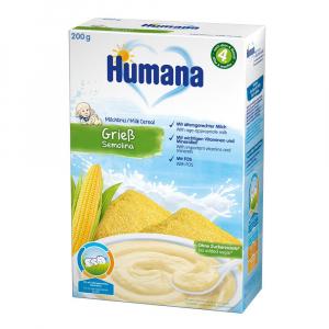 Каша Humana молочная кукурузная манная 200 гр
