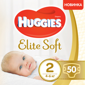 Подгузники Huggies Elite Soft 2 3-6 кг 50 шт