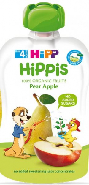 Пюре HiPP из яблок с грушами 100 гр