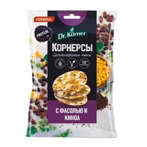 Чипсы кукурузно-рисовые с горошком,фасолью и киноа 50гр