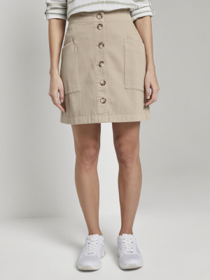 utility skirt with pocket, dark beige, L
