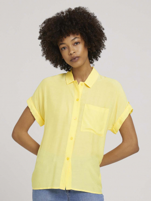 blouse easy fit, mellow yellow, 36