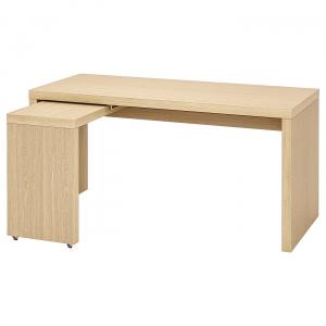 MALM письменный стол с выдвижной панелью