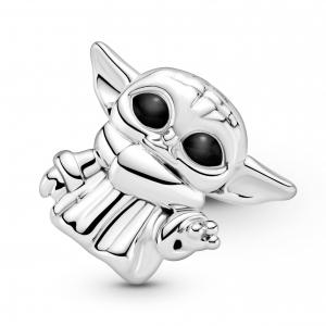 Star Wars Grogu sterling silver charm with black enamel