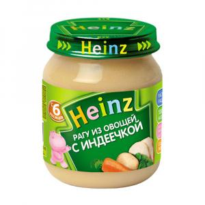 Пюре Хайнц Рагу из овощей с индеечкой 120 гр