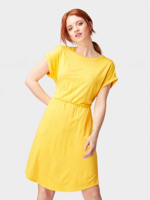 jersey mini dress, golden yellow, XS