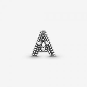 Letter A silver petite element