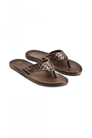 BATA. LEATHER SANDAL, BROWN COLOUR.