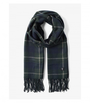woven, navy green special check, OneSize