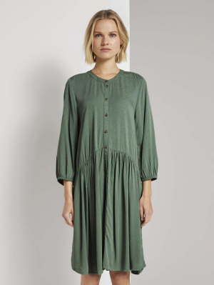 dress with button down, vintage green, L
