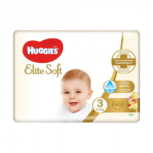 Подгузники Huggies Elite Soft 3 5-9 кг 40 шт