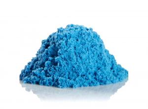 Набор космического песка 6 кг голубого цвета (2х3 кг + деревянная песочница)
