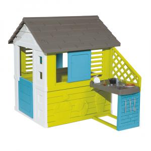 Игровой домик Smoby с кухней (синий)
