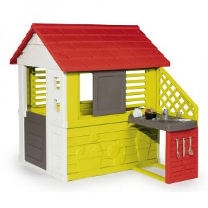Игровой домик Smoby с кухней (красный)